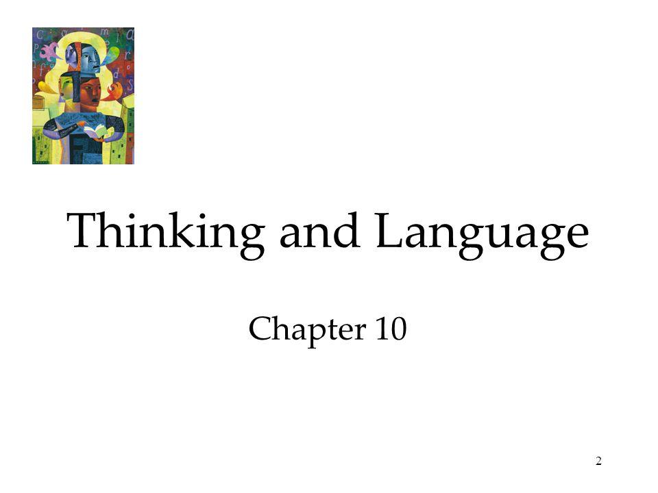 2 Thinking and Language Chapter 10