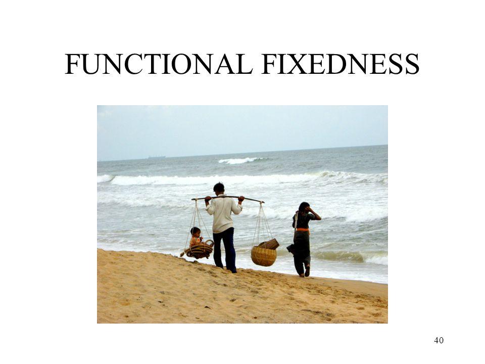 40 FUNCTIONAL FIXEDNESS