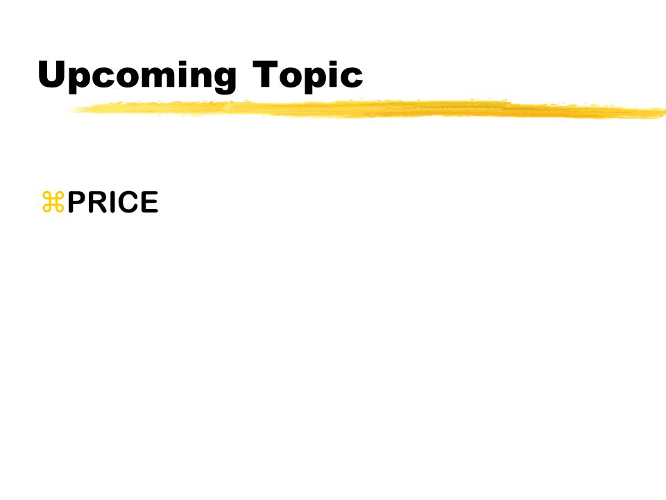 Upcoming Topic zPRICE