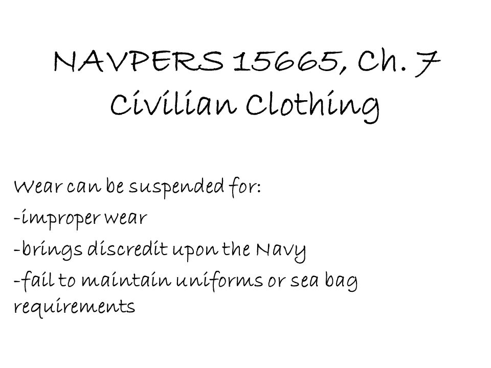 NAVPERS 15665, Ch.