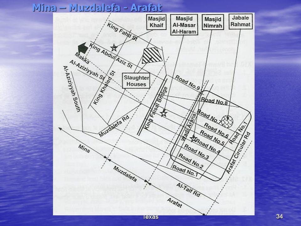 (c) Madina Masjid, Houston, Texas34 Mina – Muzdalefa - Arafat