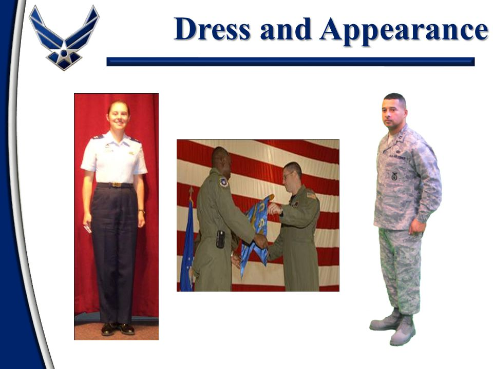 Service Dress Uniform Tie/Tie Tab required Jacket and trousers/skirt same material Add service coat