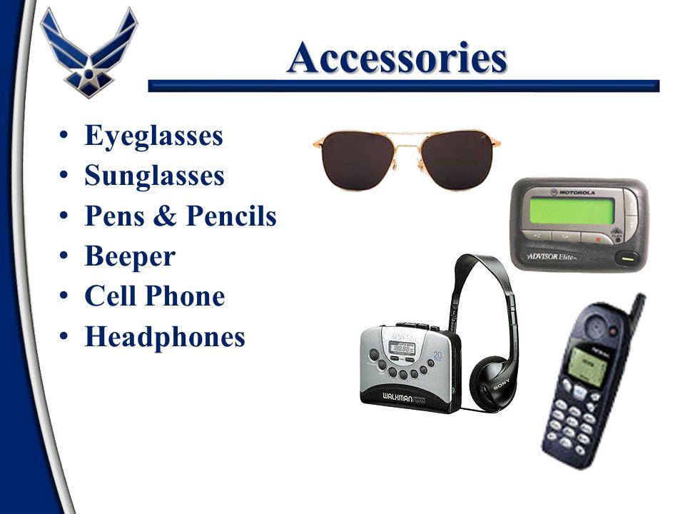 Accessories Eyeglasses Sunglasses Pens & Pencils Beeper Cell Phone Headphones