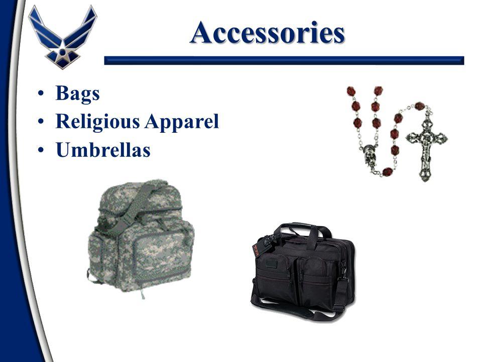 Accessories Bags Religious Apparel Umbrellas