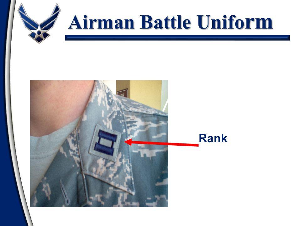 Airman Battle Unifo rm Shirt Rank Insignia