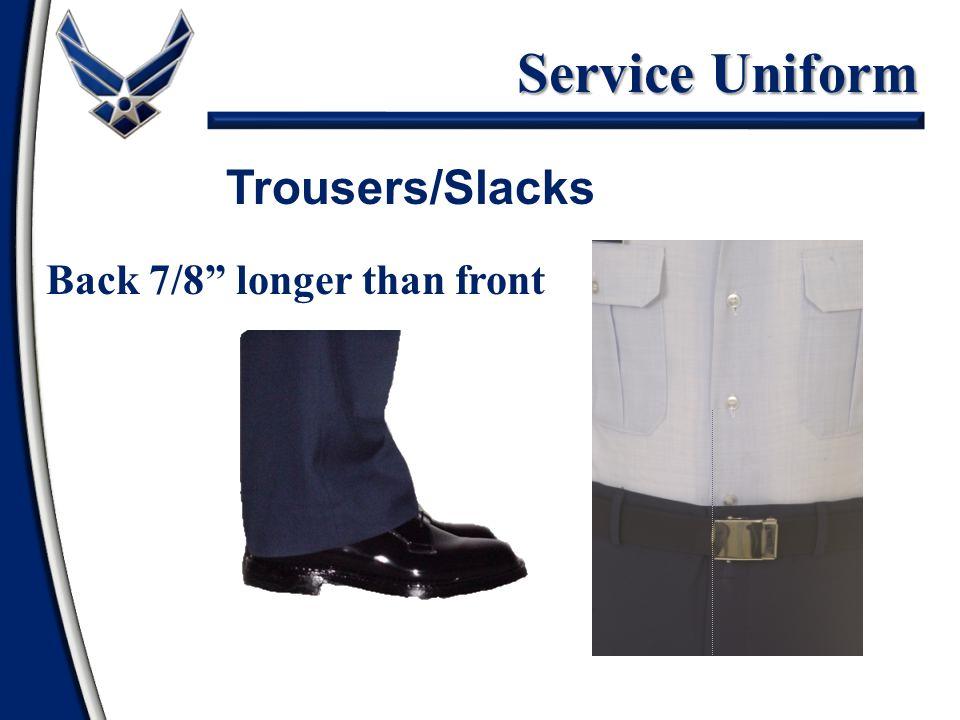 """Service Uniform Back 7/8"""" longer than front Trousers/Slacks"""