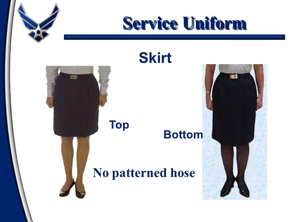 Service Uniform No patterned hose Skirt Top Bottom