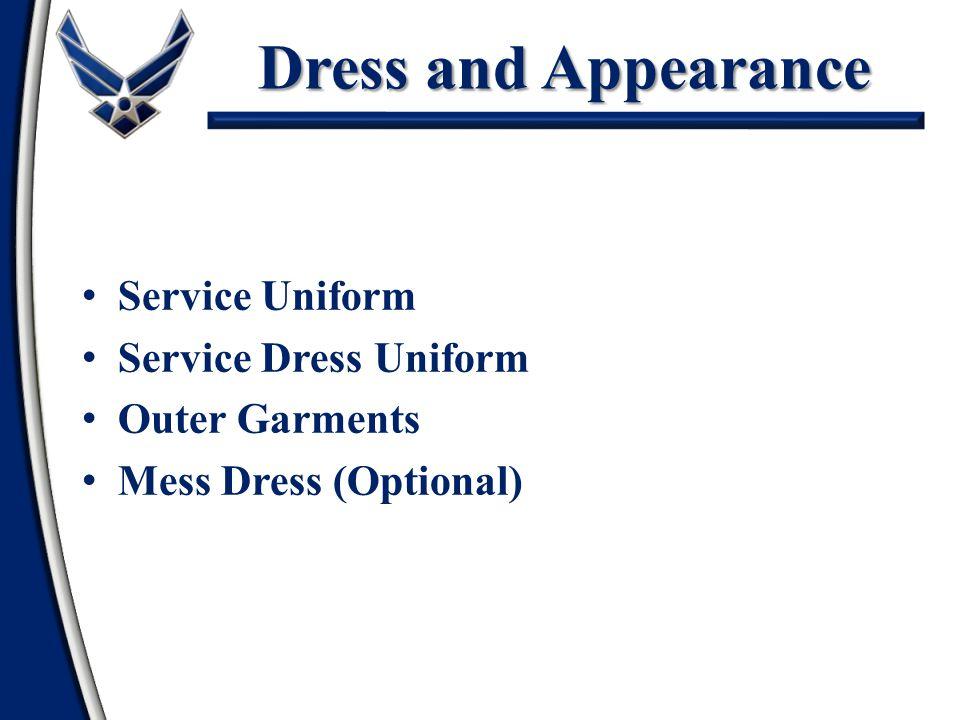 Dress and Appearance Service Uniform Service Dress Uniform Outer Garments Mess Dress (Optional)