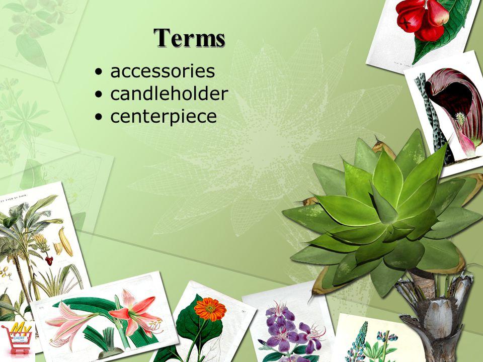 Terms accessories candleholder centerpiece