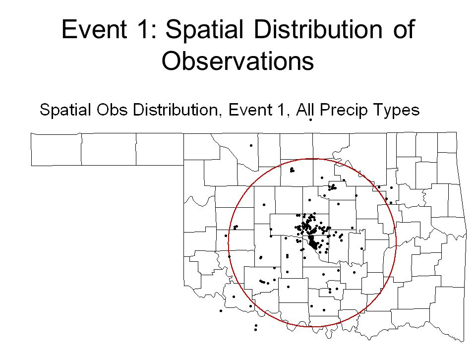 Event 1: Spatial Distribution of Observations