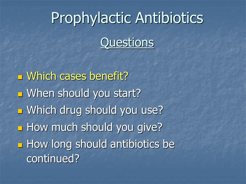 Recently Updated Antibiotic Recommendations Surgery Type Antimicrobial recommendations Hip or knee arthroplasty Preferred: Cefazolin or cefuroxime If patient high risk for MRSA: Vancomycin* Beta-lactam allergy: Vancomycin or clindamycin Vancomycin or clindamycin Cardiac or vascular Preferred: Cefazolin or cefuroxime If patient high risk for MRSA: Vancomycin* Beta-lactam allergy: Vancomycin or clindamycin Vancomycin or clindamycin * For the purposes of national performance measurement a case will pass the antibiotic selection performance measure if vancomycin is used for prophylaxis (in the absence of a documented beta-lactam allergy) if there is physician documentation of the rationale for vancomycin use (effective for July 2006 discharges).