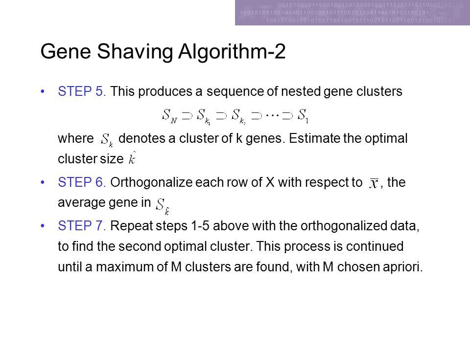 Gene Shaving Algorithm-2 STEP 5.