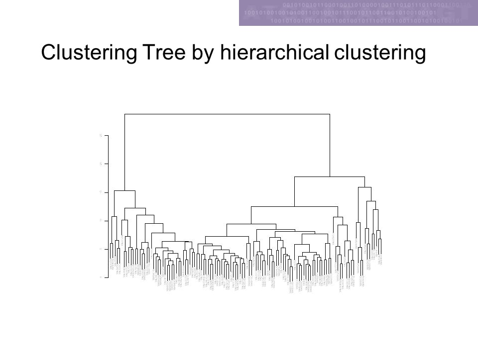 Clustering Tree by hierarchical clustering