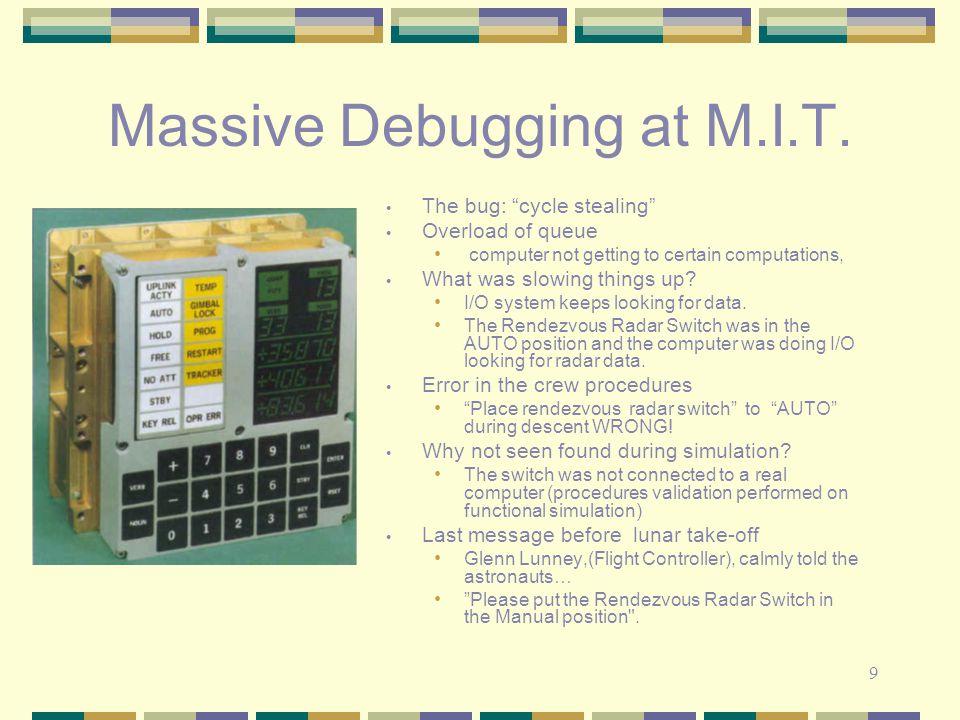 9 Massive Debugging at M.I.T.