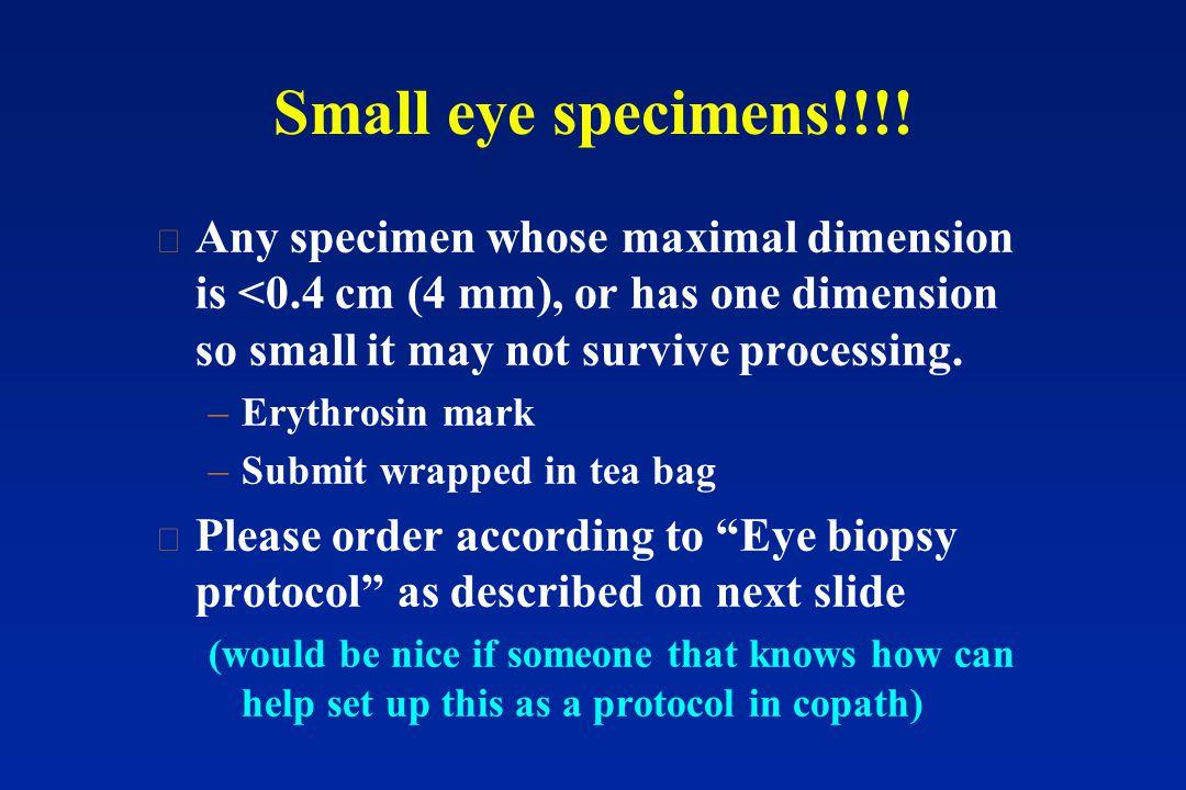 Small eye specimens!!!.