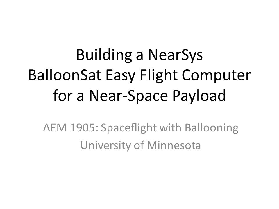 BalloonSat Easy kit and instructions