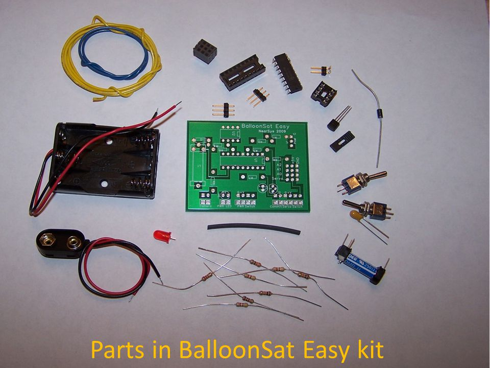 Parts in BalloonSat Easy kit
