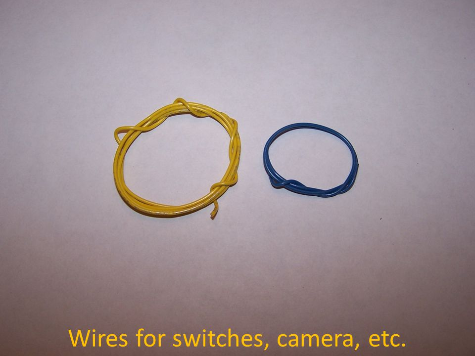 Wires for switches, camera, etc.