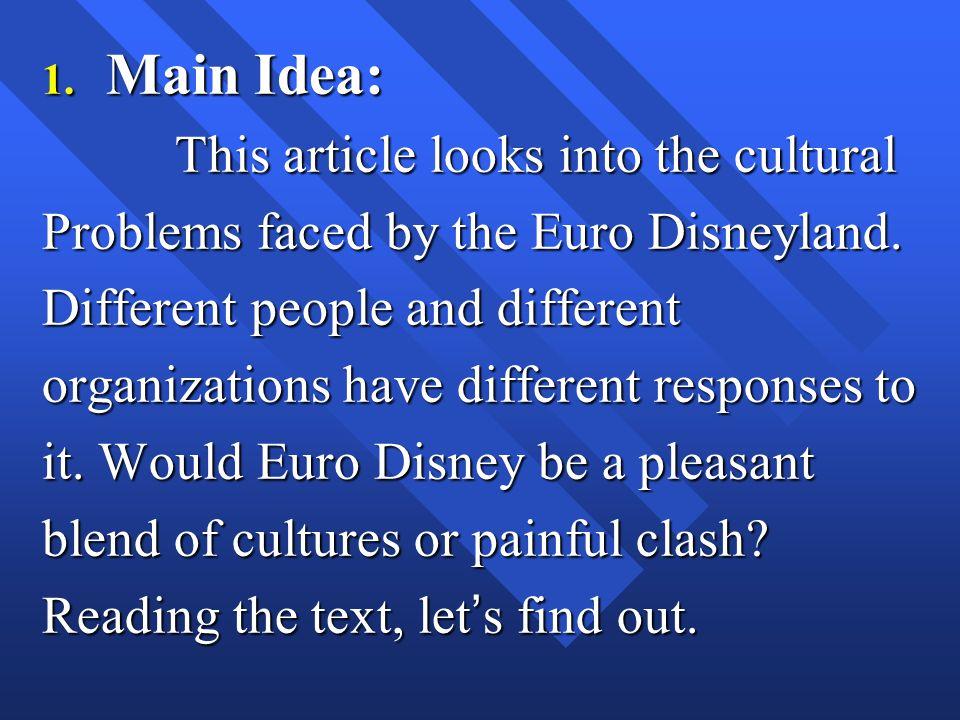 I. Objectives 1. Main Idea: 2. Text Organization: 3. Essay style: