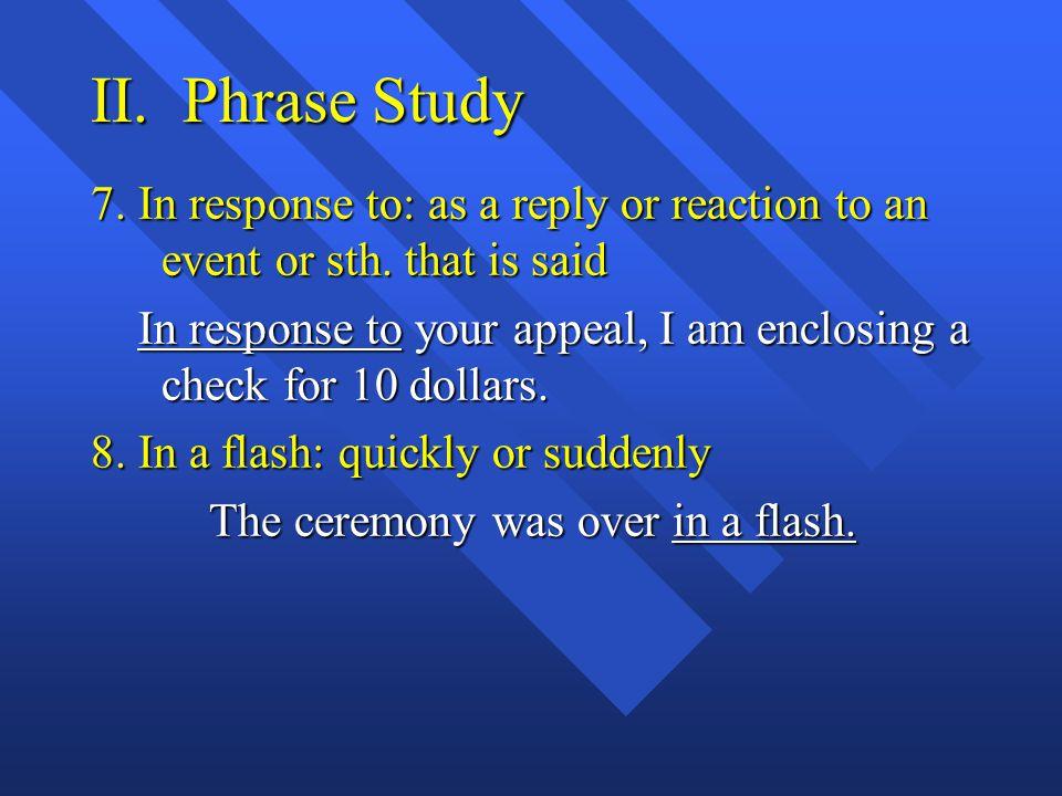II. Phrase Study 4.