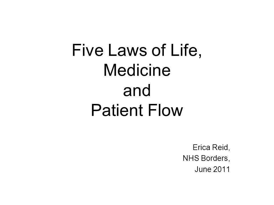 Five Laws of Life, Medicine and Patient Flow Erica Reid, NHS Borders, June 2011