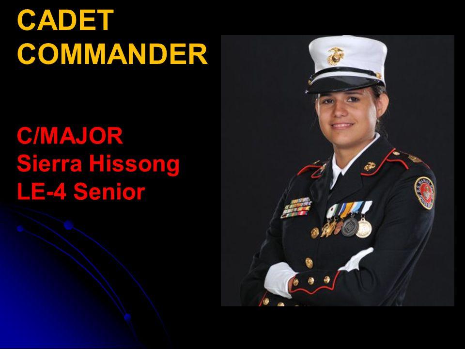CADET COMMANDER C/MAJOR Sierra Hissong LE-4 Senior