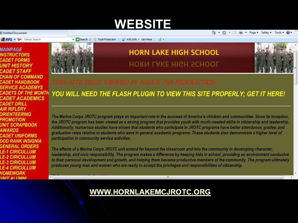 WEBSITE WWW.HORNLAKEMCJROTC.ORG