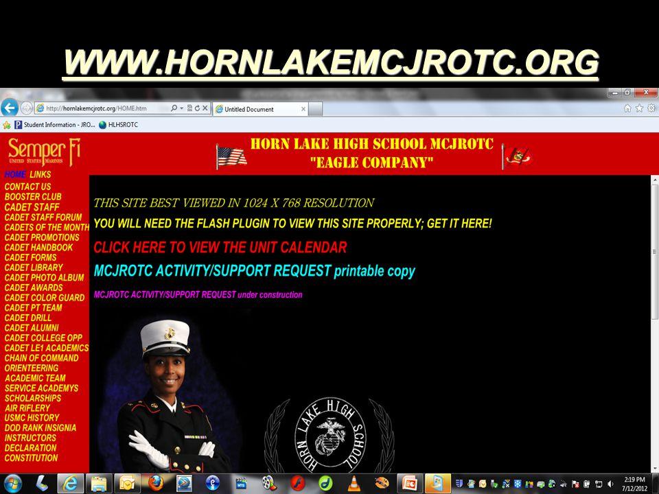 WWW.HORNLAKEMCJROTC.ORG WWW.HORNLAKEMCJROTC.ORG WWW.HORNLAKEMCJROTC.ORG