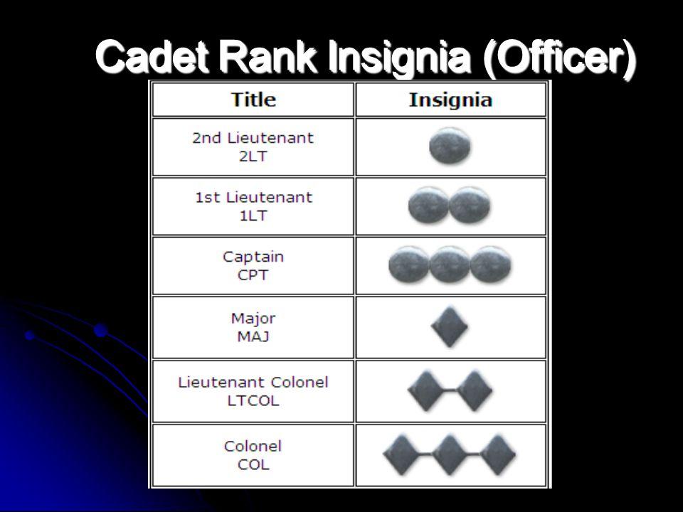 Cadet Rank Insignia (Officer)