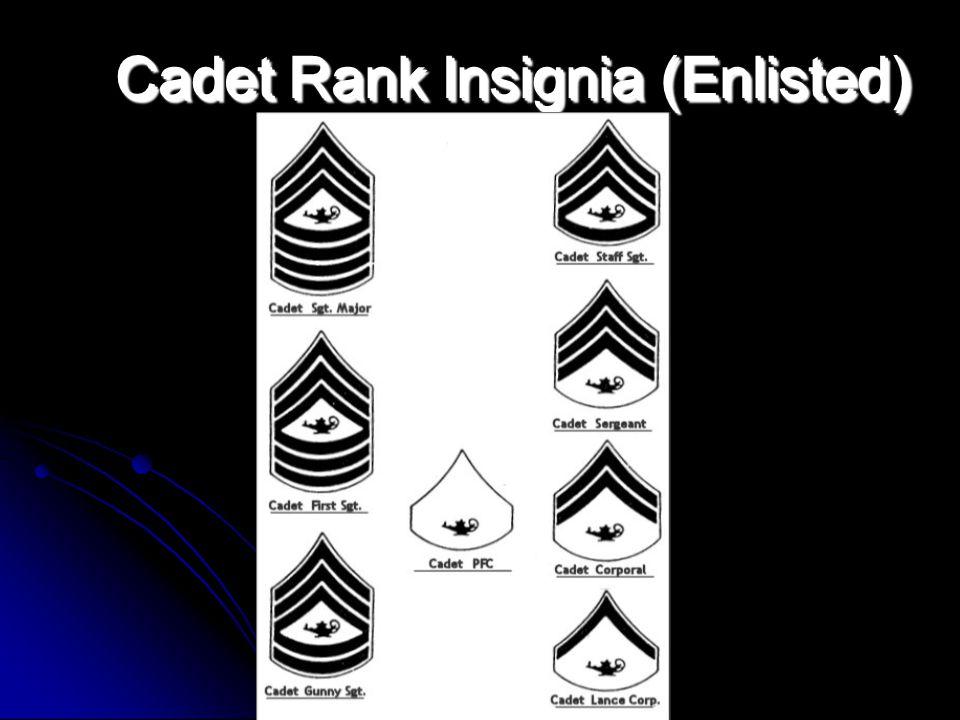Cadet Rank Insignia (Enlisted)