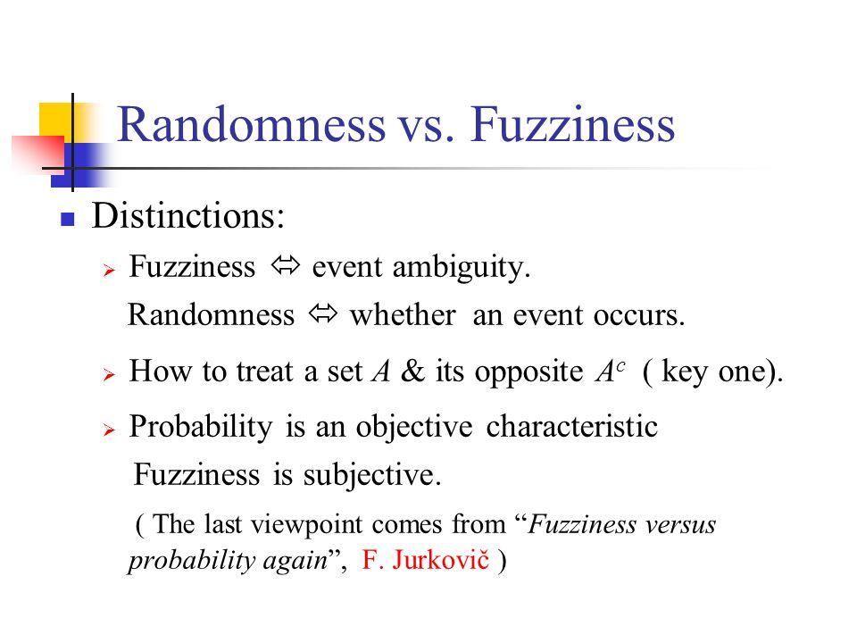 Randomness vs.