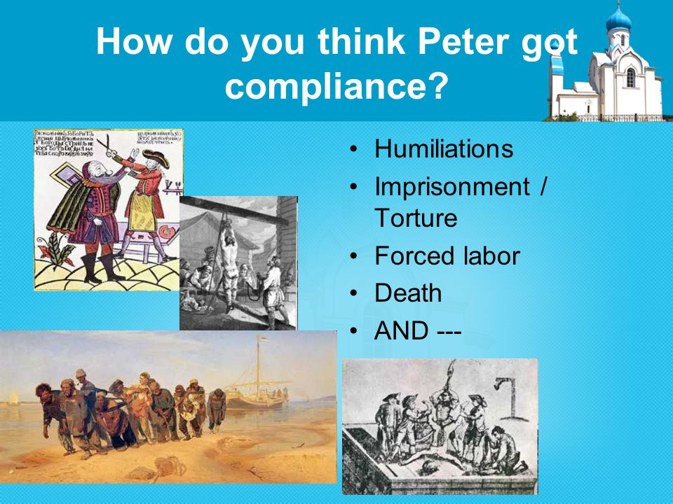 How do you think Peter got compliance.