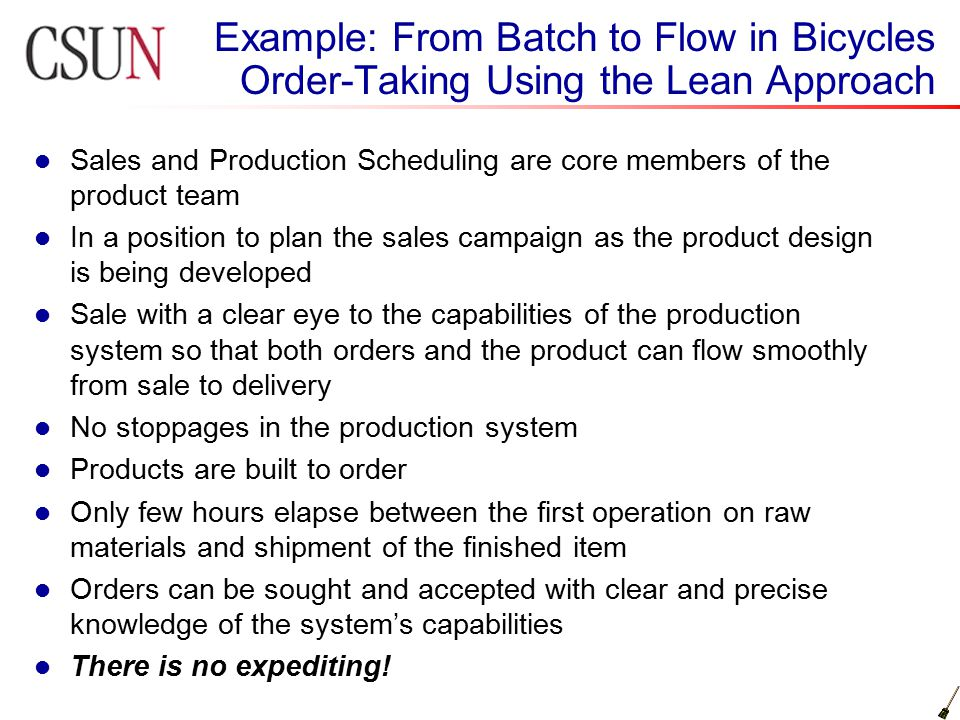 Sales and Production Scheduling are core members of the product team In a position to plan the sales campaign as the product design is being developed