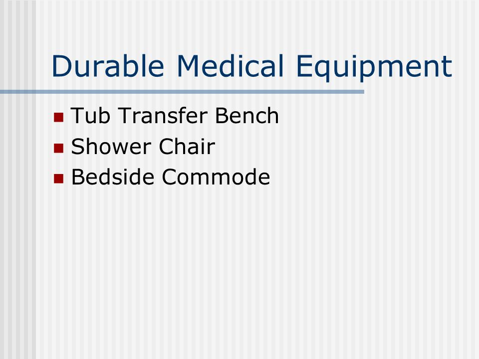 Durable Medical Equipment Tub Transfer Bench Shower Chair Bedside Commode