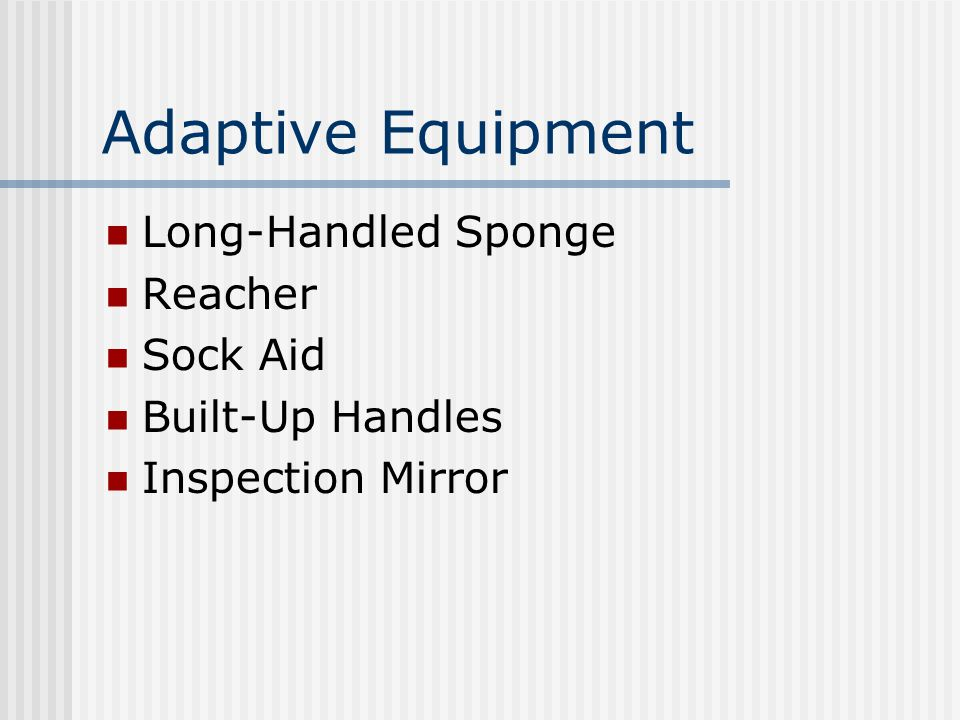 Adaptive Equipment Long-Handled Sponge Reacher Sock Aid Built-Up Handles Inspection Mirror