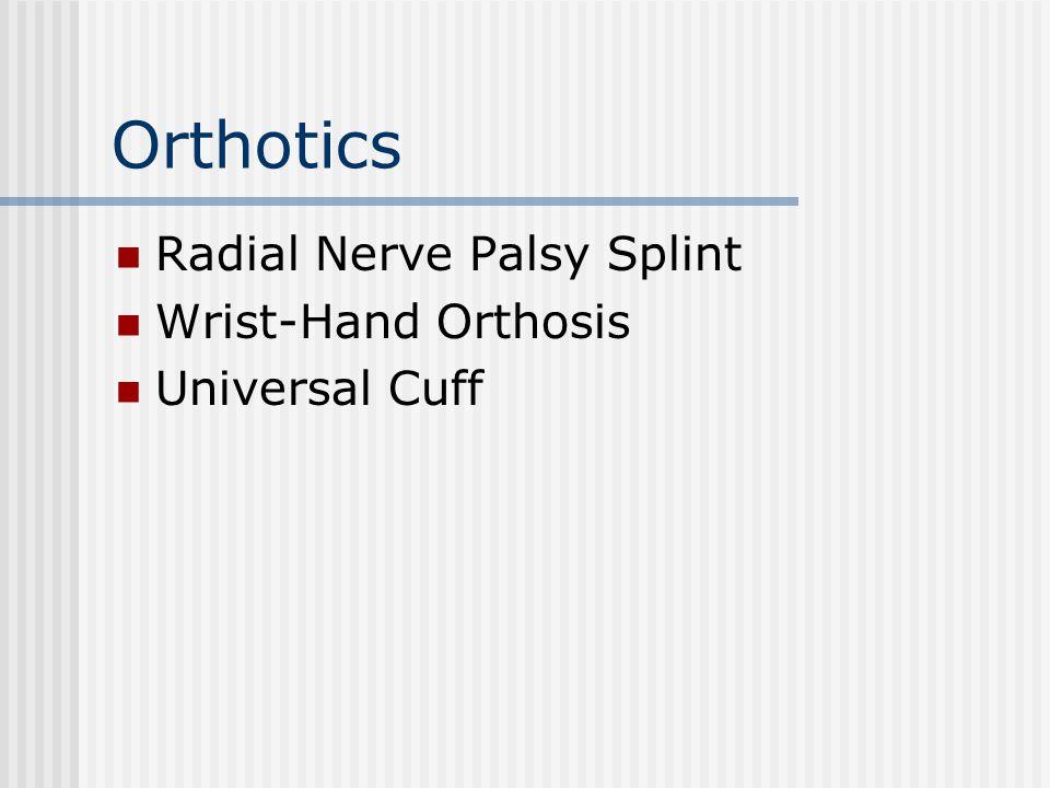 Orthotics Radial Nerve Palsy Splint Wrist-Hand Orthosis Universal Cuff