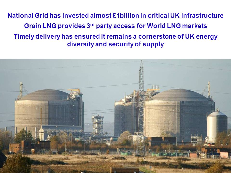 21 National Grid has invested almost £1billion in critical UK infrastructure Grain LNG provides 3 rd party access for World LNG markets Timely delivery has ensured it remains a cornerstone of UK energy diversity and security of supply