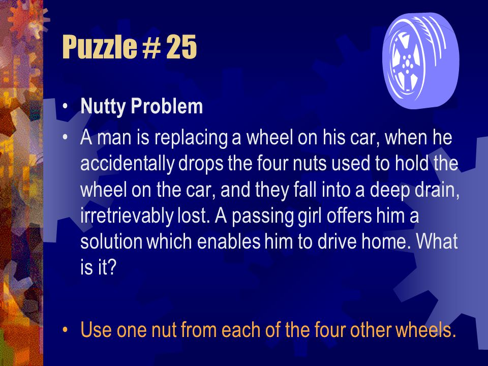 Lateral Thinking Puzzles Mr. Comm GOAL