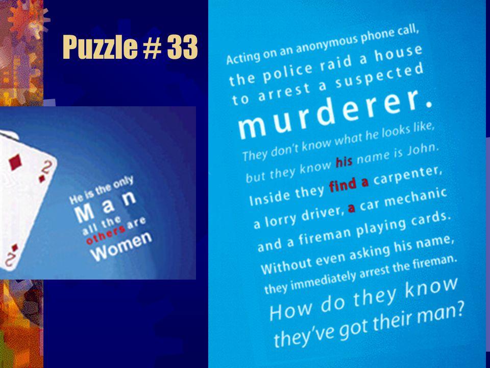 Puzzle # 32