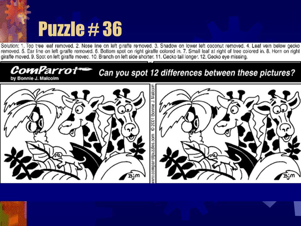 Puzzle # 35