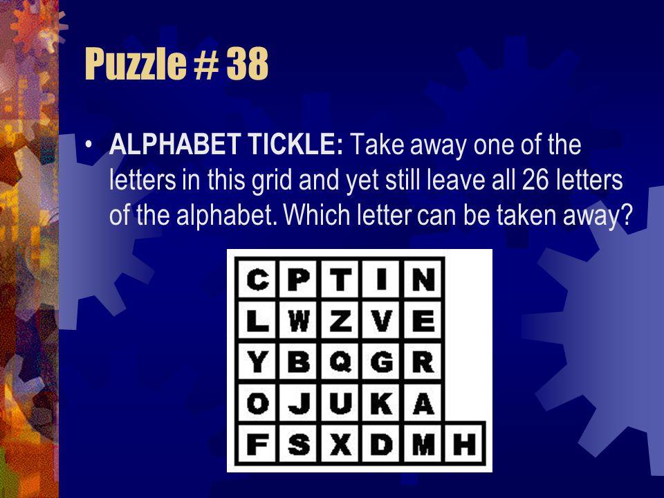 Puzzle # 37