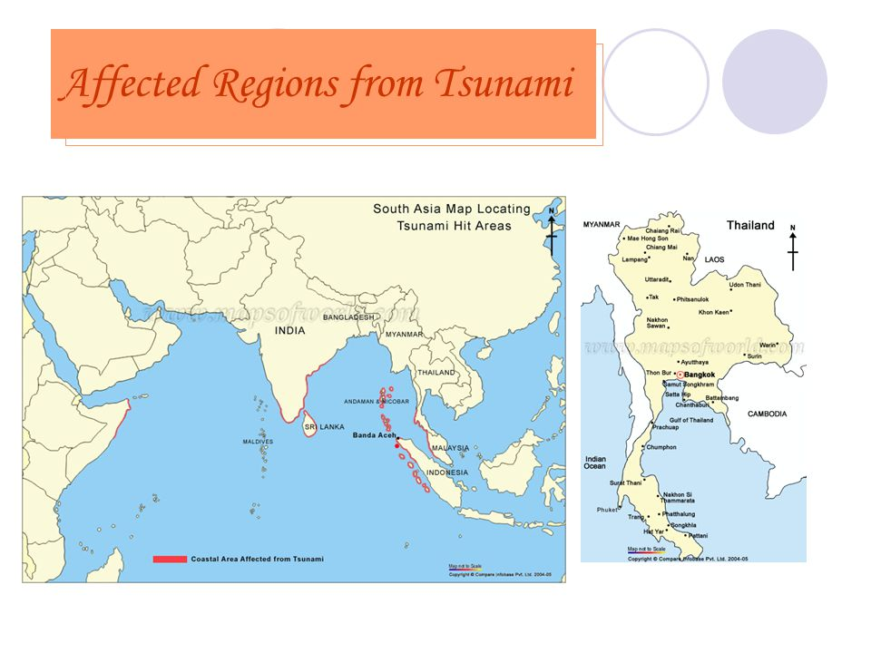 Affected Regions from Tsunami