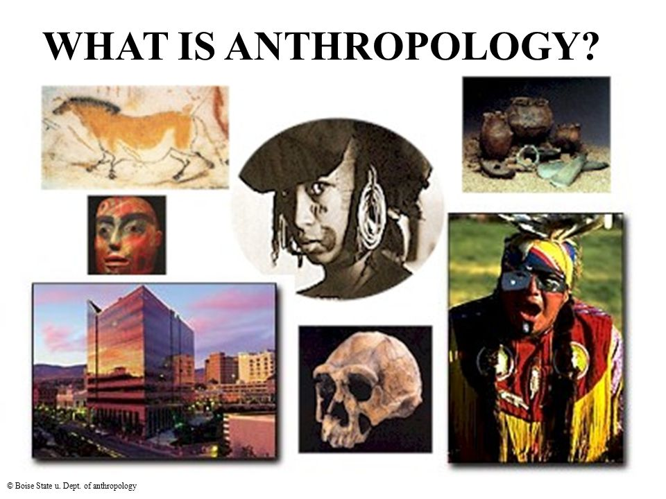 WHAT IS ANTHROPOLOGY? © Boise State u. Dept. of anthropology
