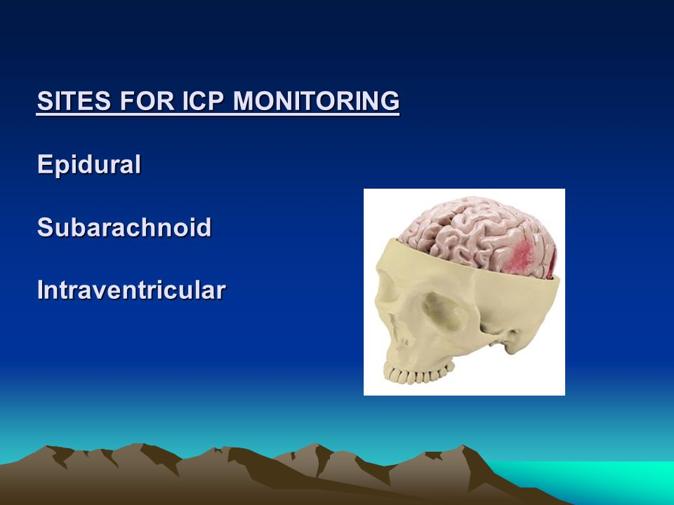 EXAMPLE CEREBRAL PERFUSION PRESSURE (CPP) The following assessment is made: BP = 130/82; ICP=15; MAP = 98 MAP- ICP = CPP = 83 (>60 indicates the brain is being perfused) MAP 100 and/or ICP >20 impairs cerebral perfusion