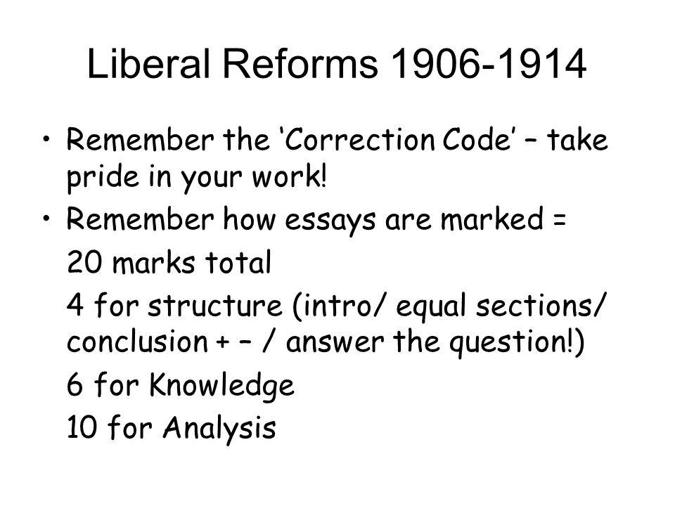 Liberal Reforms – Success?