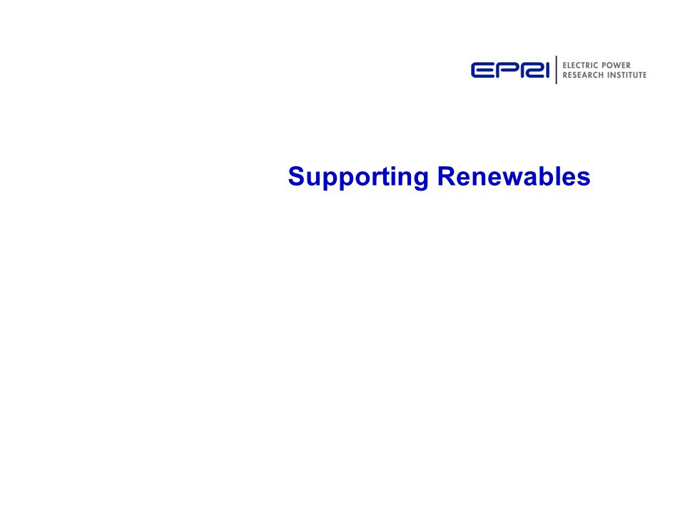 Supporting Renewables