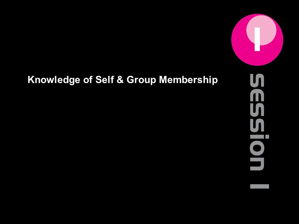 Knowledge of Self & Group Membership