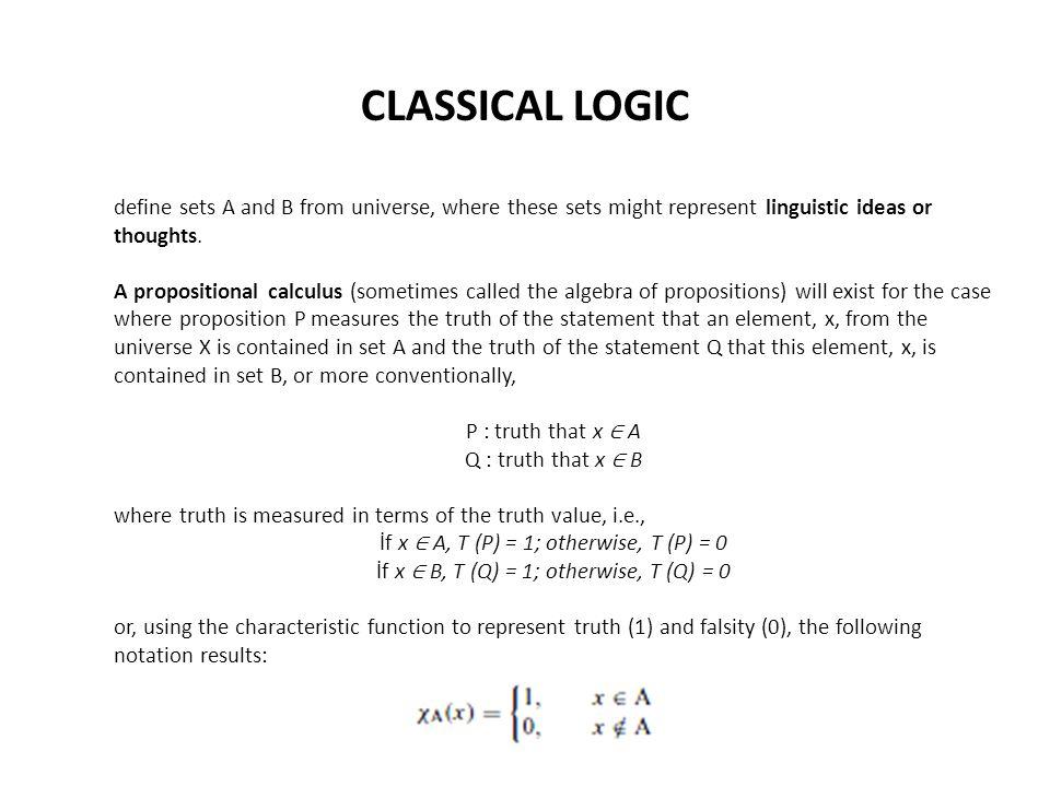 FUZZY LOGIC Approximate reasoning