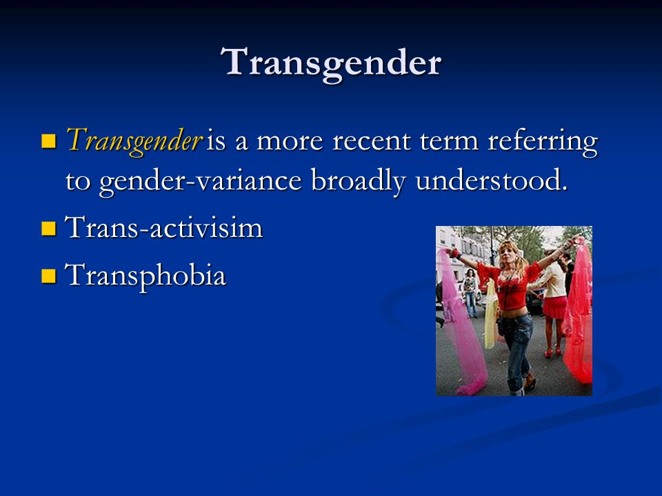 Transgender terms Female-to-male (FTM) transsexual person refers to a biological female who identifies as, or desires to be, a member of the male gender.