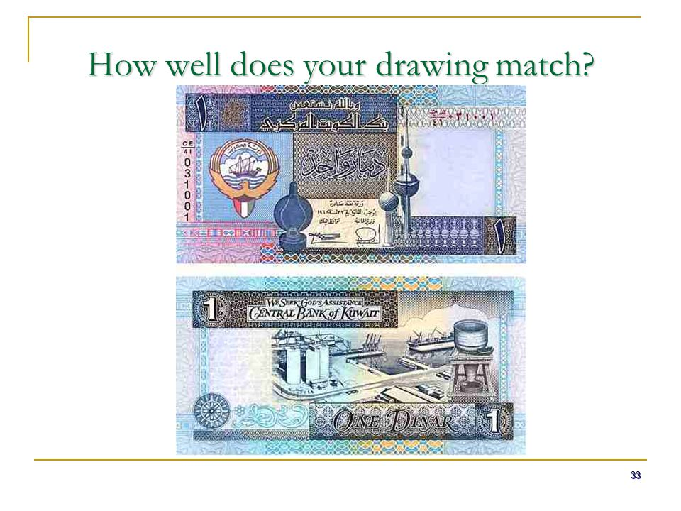 33 How well does your drawing match?